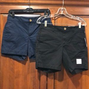 NWT Lot of two size 0 ladies shorts old navy black